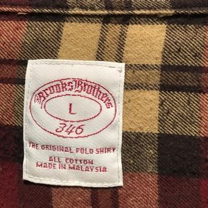 Brooks Brothers Shirts - Brooks Brothers Long Sleeve Flannel Button Down